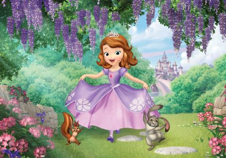 Photo wallpaper Disney Princess Sofia garden